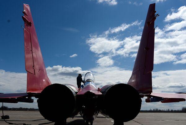 Samolot odrzutowy MiG-29 zespółu akrobacyjnego Striżi - Sputnik Polska