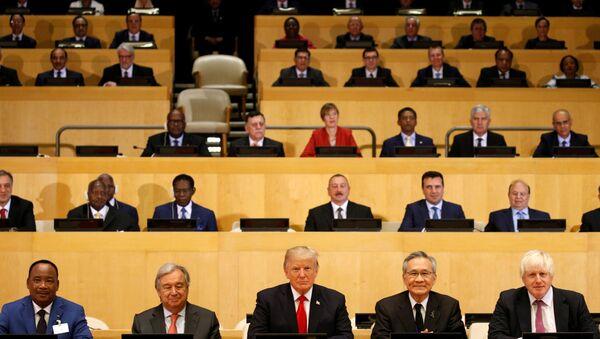 Donald Trump na sesji Zgromadzenia Ogólnego ONZ - Sputnik Polska