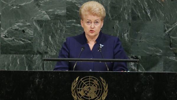 Prezydent Litwy Dalia Grybauskaite na sesji Zgromadzenia Ogólnego ONZ w Nowym Jorku - Sputnik Polska
