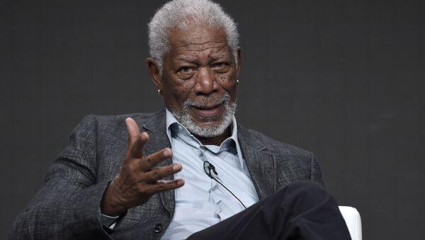 Amerykański aktor Morgan Freeman - Sputnik Polska