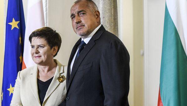 Premier Polski Beata Szydło i premier Bułgarii Bojko Borisow - Sputnik Polska
