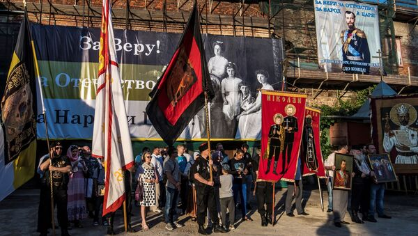 Prawoławna demonstracja przeciwko pokazowi filmu Matylda w Moskwie - Sputnik Polska