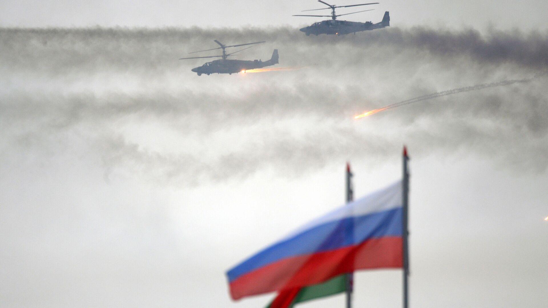 Rosyjsko-białoruskie ćwiczenia wojskowe Zapad 2017 w obwodzie mińskim - Sputnik Polska, 1920, 09.09.2021
