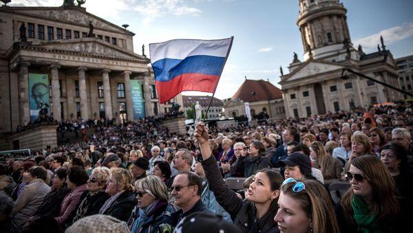 Koncert Piosenki Zwycięstwa w centrum Berlina - Sputnik Polska