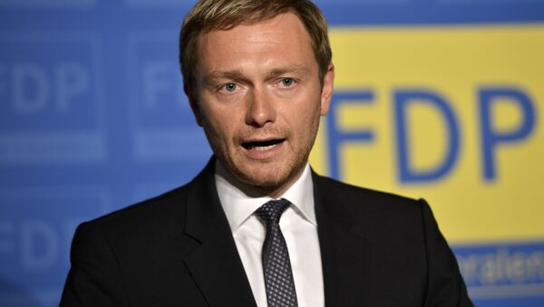 Christian Lindner lider Wolnej Partii Demokratycznej (FDP) - Sputnik Polska