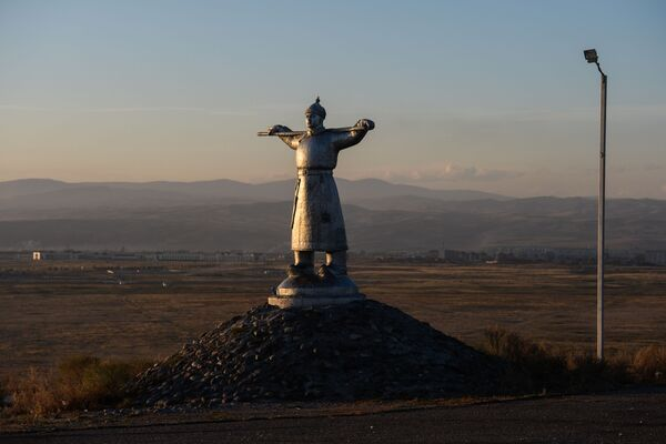Pomnik pasterza w Republice Tuwa - Sputnik Polska