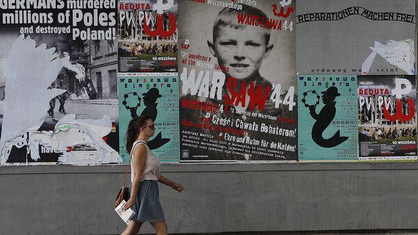 Plakaty z apelem o reparacje od Niemiec - Sputnik Polska