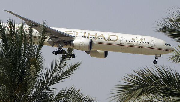 Samolot linii lotniczych Etihad Airways. Zdjęcie archiwalne - Sputnik Polska