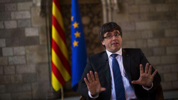 Szef katalońskiego rządu Carles Puigdemont - Sputnik Polska