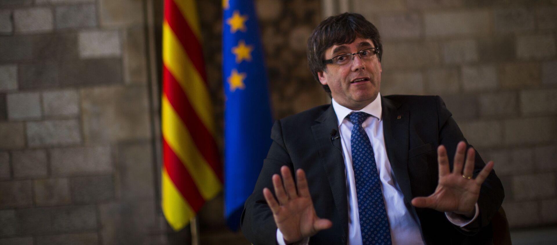 Były szef katalońskiego rządu Carles Puigdemont - Sputnik Polska, 1920, 07.04.2018