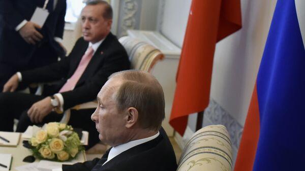 Władimir Putin i Recep Tayyip Erdoğan - Sputnik Polska