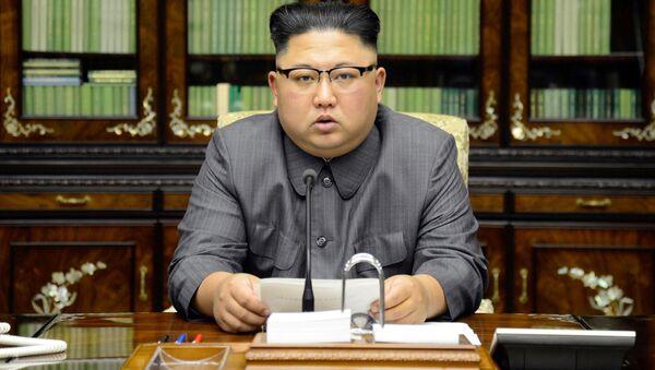 Wystąpienie Kim Dzong Una w związku z przemową Trumpa w ONZ - Sputnik Polska