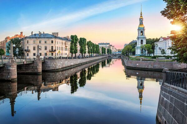 Most Pikalov i dzwonnica w Petersburgu - Sputnik Polska