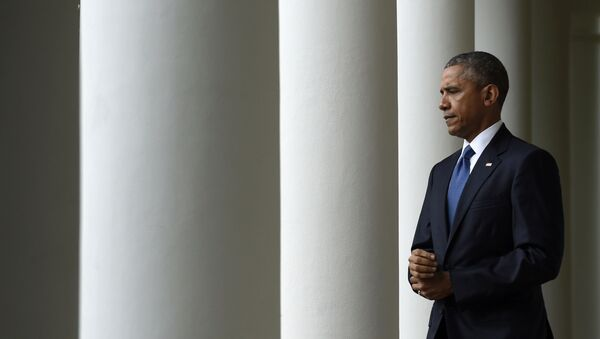Barack Obama w Białym Domu - Sputnik Polska