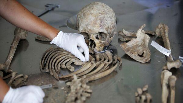 Antropolog sądowy Międzynarodowej komisji ds. zaginionych osób identyfikuje szczątki ofiar zabójstw w Srebrenicy - Sputnik Polska