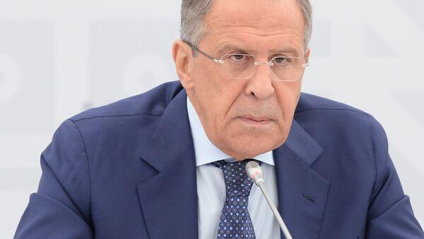 Briefing ministra spraw zagranicznych FR Siergieja Ławrowa - Sputnik Polska