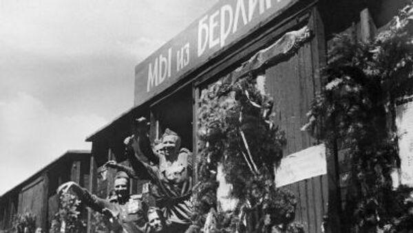 Возвращение бойцов Красной Армии из Берлина - Sputnik Polska