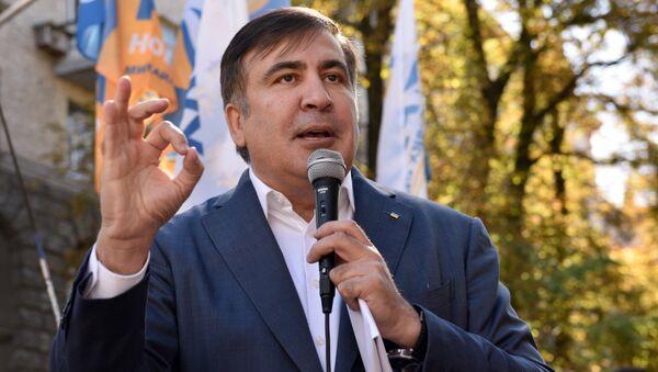 Były prezydent Gruzji, były gubernator obwodu odesskiego Michaił Saakaszwili - Sputnik Polska