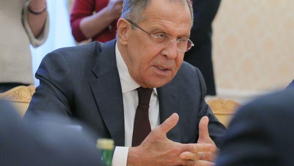 Министр иностранных дел России Сергей Лавров - Sputnik Polska