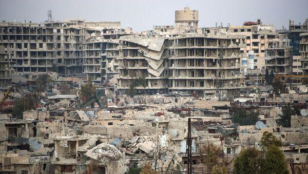 Dżobar - dzielnica Damaszku kontrolowana przez Dżabhat an-Nusrę - Sputnik Polska