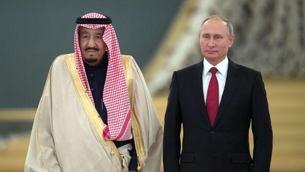 Władimir Putin i Salman ben Abdel Aziz Al Saud - Sputnik Polska
