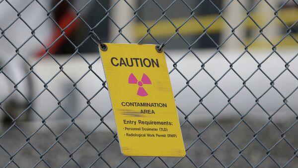 Ogrodzenie ostrzegawcze przed magazynem odpadów radioaktywnych - Sputnik Polska
