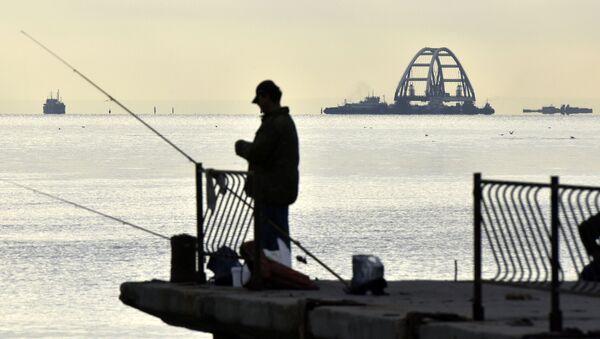 Widok na Krymski Most w Zatoce Kerczeńskiej - Sputnik Polska