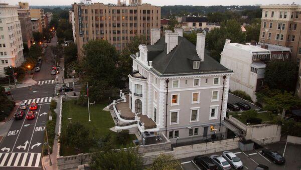 Budynek rosyjskiego przedstawicielstwa handlowego w Waszyngtonie - Sputnik Polska