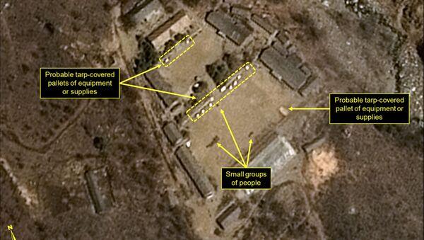 Zdjęcie satelitarne północnokoreańskiego poligonu jądrowego Punggye-ri - Sputnik Polska