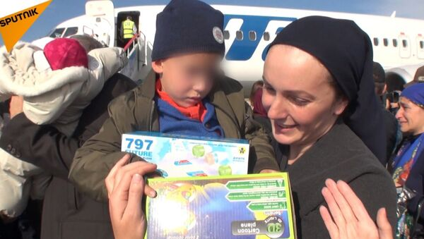 Rosyjskie dzieci przewieziono do Groznego z Iraku - Sputnik Polska