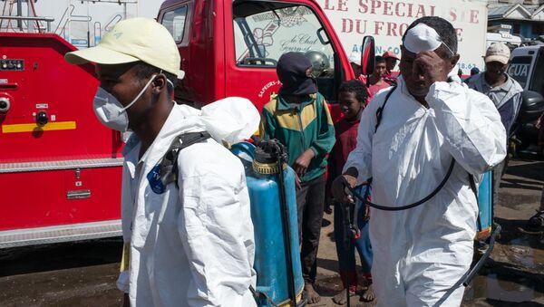 Dezynsekcja na targu w Antananarywie, stolicy Madagaskaru - Sputnik Polska