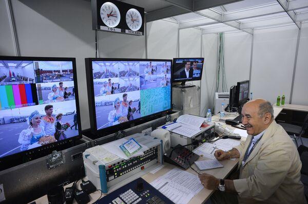 Studio telewizyjne w międzynarodowym centrum prasowym szczytu krajów BRICS - Sputnik Polska