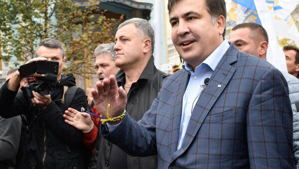 Były prezydent Gruzji, były gubernator obwodu odeskiego Micheil Saakaszwili - Sputnik Polska