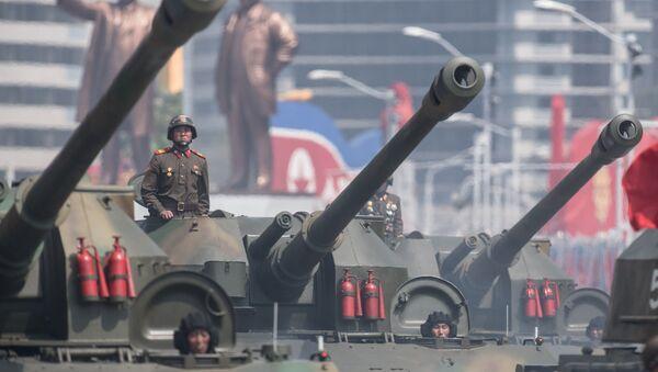 Uroczystości poświęcone 105-tej rocznicy urodzin Kim Ir Sena w Korei Północnej - Sputnik Polska