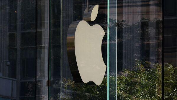 Logotyp firmy Apple w Nowym Jorku - Sputnik Polska