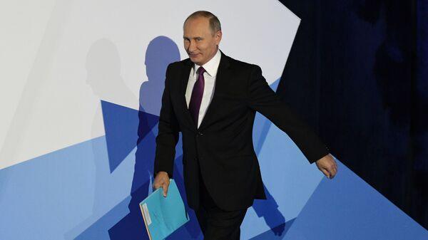 """prezydent Rosji Władimir Putin podczas podsumowującej debaty posiedzenia klubu """"Wałdaj - Sputnik Polska"""