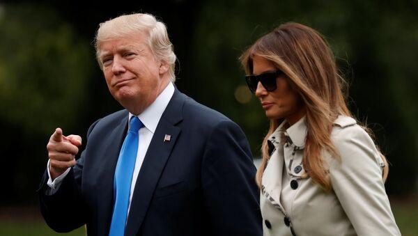 Prezydent USA Donald Trump i jego żona Melania w Waszyngtonie - Sputnik Polska