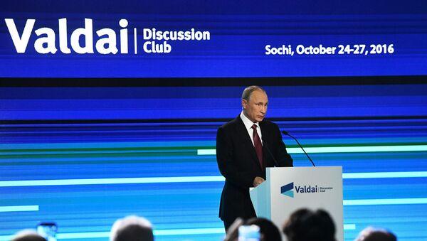 Prezydent Władimir Putin w Klubie Wałdajskim - Sputnik Polska
