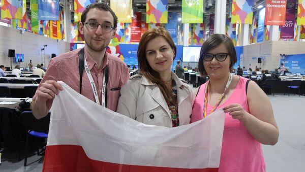 Delegacja z Polski w Centrum Prasowym - Sputnik Polska