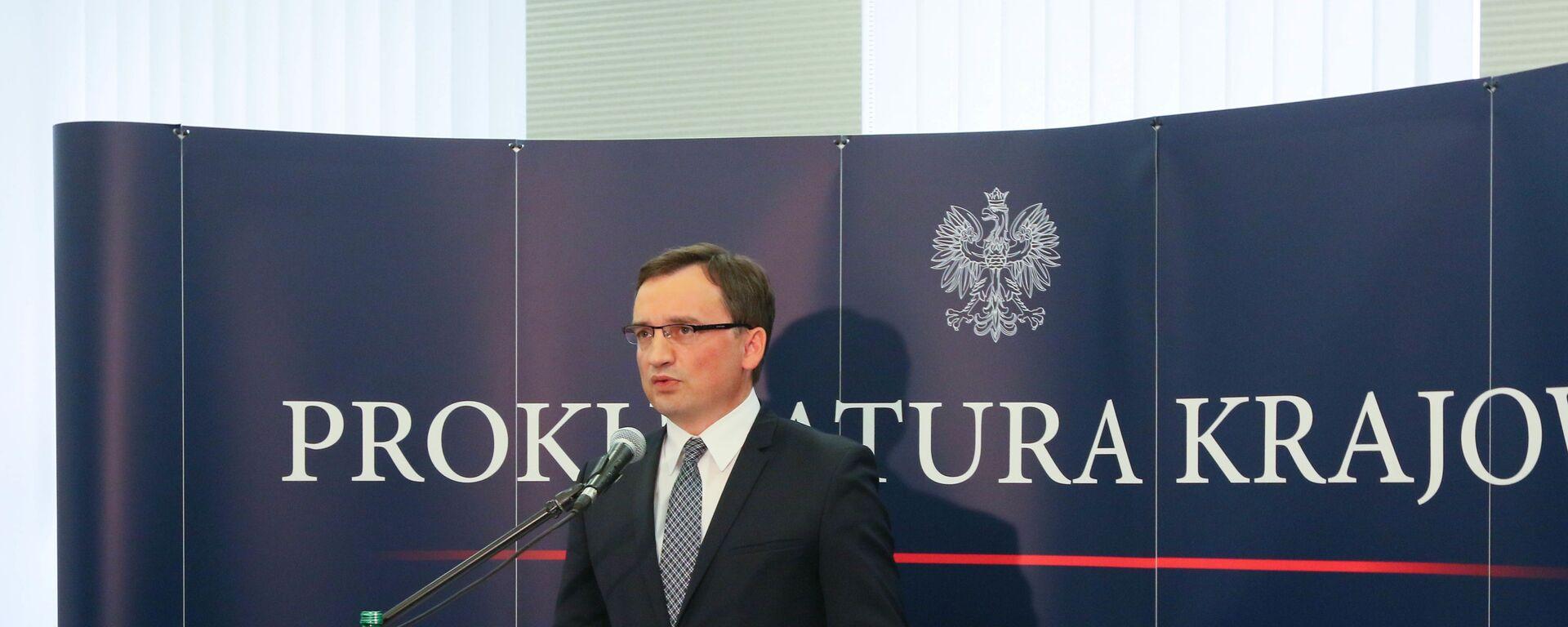 Minister sprawiedliwości Zbigniew Ziobro - Sputnik Polska, 1920, 20.09.2021