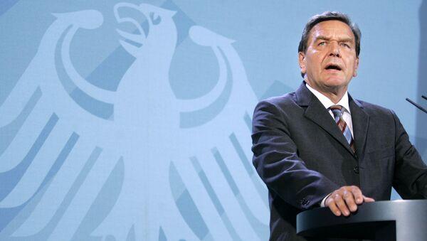 Kanclerz federalny Niemiec Gerhard Schroeder - Sputnik Polska