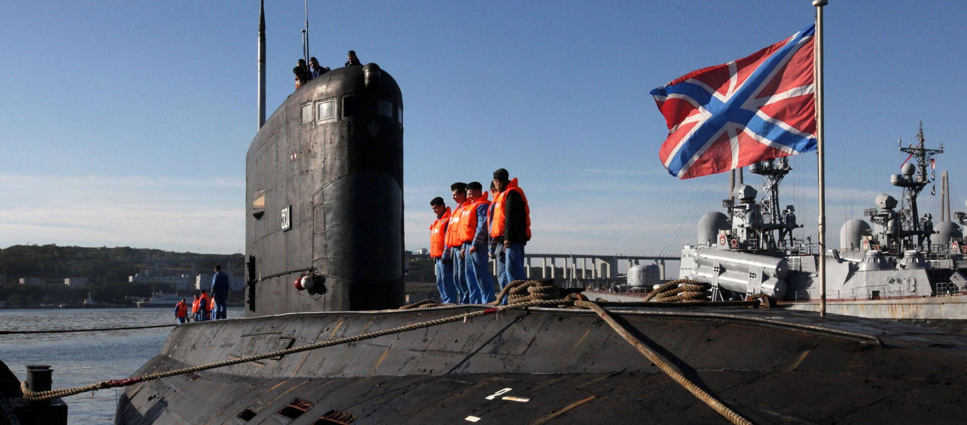 """Wielozadaniowy okręt podwodny o napędzie dieslowym projektu 636 """"Warszawianka"""" (w kodzie NATO """"Improved Kilo"""") - Sputnik Polska, 1920, 09.11.2019"""