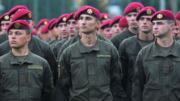 Żołnierze Sił Zbrojnych Ukrainy w czasie międzynarodowych ćwiczeń wojskowych Rapid trident-2016 - Sputnik Polska
