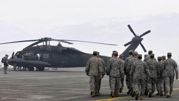 Amerykańscy wojskowi podczas akcji ratunkowej w Czarnogórze. Zdjęcie archiwalne - Sputnik Polska