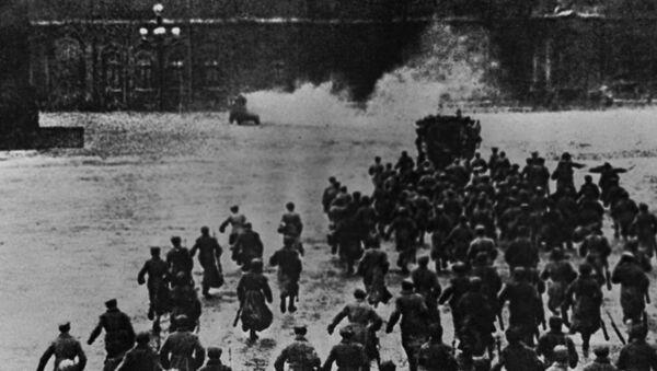 Rewolucja 1917, Petersburg, zdjęcie archiwalne - Sputnik Polska