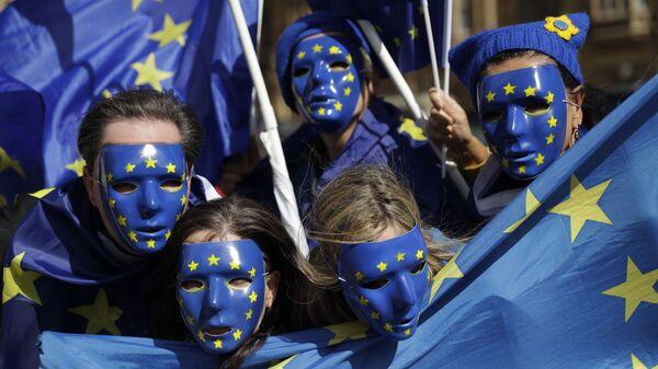 Przeciwnicy Brexitu Wielkiej Brytanii z Unii Europejskiej - Sputnik Polska