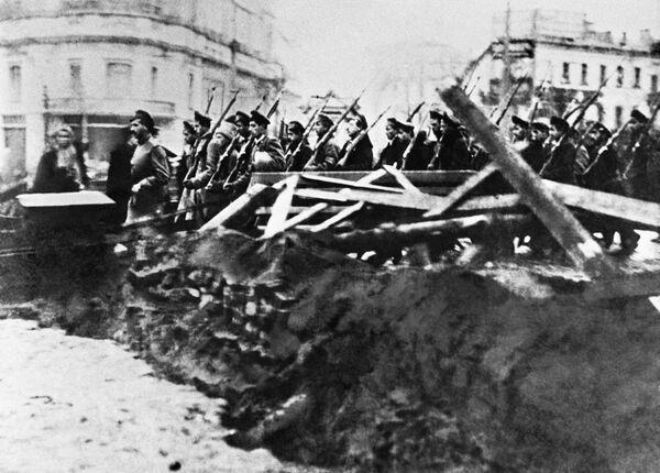 Archiwalne fotografie rewolucji październikowej, Moskwa 1917 r. - Sputnik Polska