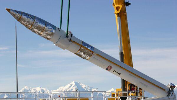 Pocisk przechwytujący naziemnego bazowania w bazie wojskowej w Fort Greeley, Alaska, USA - Sputnik Polska
