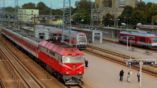 Dworzec w Wilnie, Litwa - Sputnik Polska