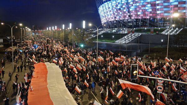 Marsz w Warszawie - Sputnik Polska